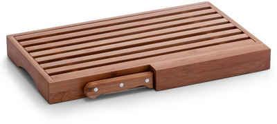 Zeller Present Brotschneidebrett, Bambus, (Set, 2-St., Brotmesser)