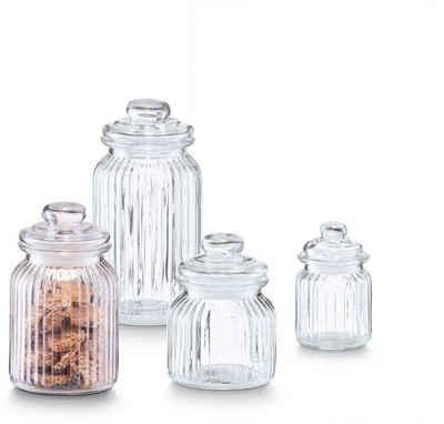 Zeller Present Vorratsglas »Nostalgie«, Glas, (4-tlg)