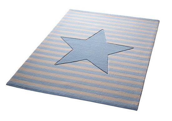 Kinderteppich »My little Star«, Bellybutton, rechteckig, Höhe 10 mm, Stern, reine Schurwolle