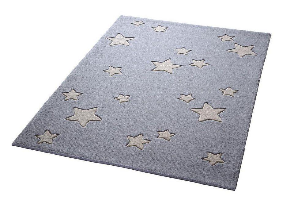 Kinder Teppich Uni Grau