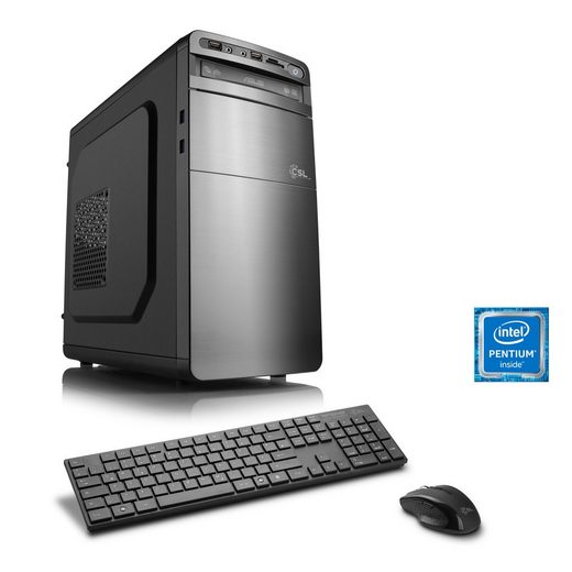 CSL Multimedia PC, Pentium G4560, GTX 1050 Ti, 8GB DDR4 RAM, SSD »Speed T1896 Windows 10 Home«
