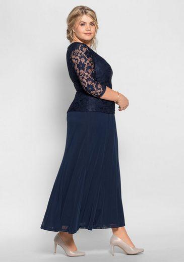 sheego Style Abendkleid, leicht transparent