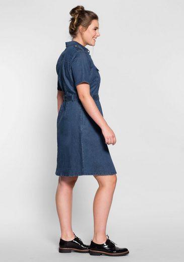 sheego Denim Jeanskleid, mit seitlichen Eingriffstaschen
