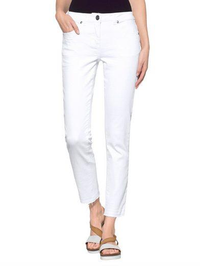 Alba Moda Jeans mit Fransensaum