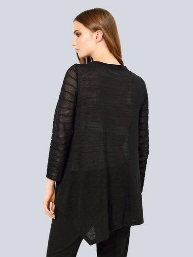 Alba Moda Pullover mit Netzstrick-Details