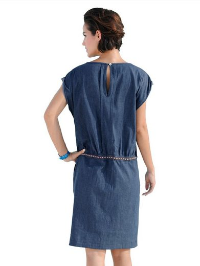 Alba Moda Jean Dress With Tunnel