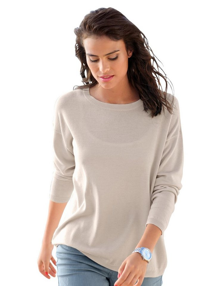alba moda pullover mit ajour einsatz online kaufen otto. Black Bedroom Furniture Sets. Home Design Ideas