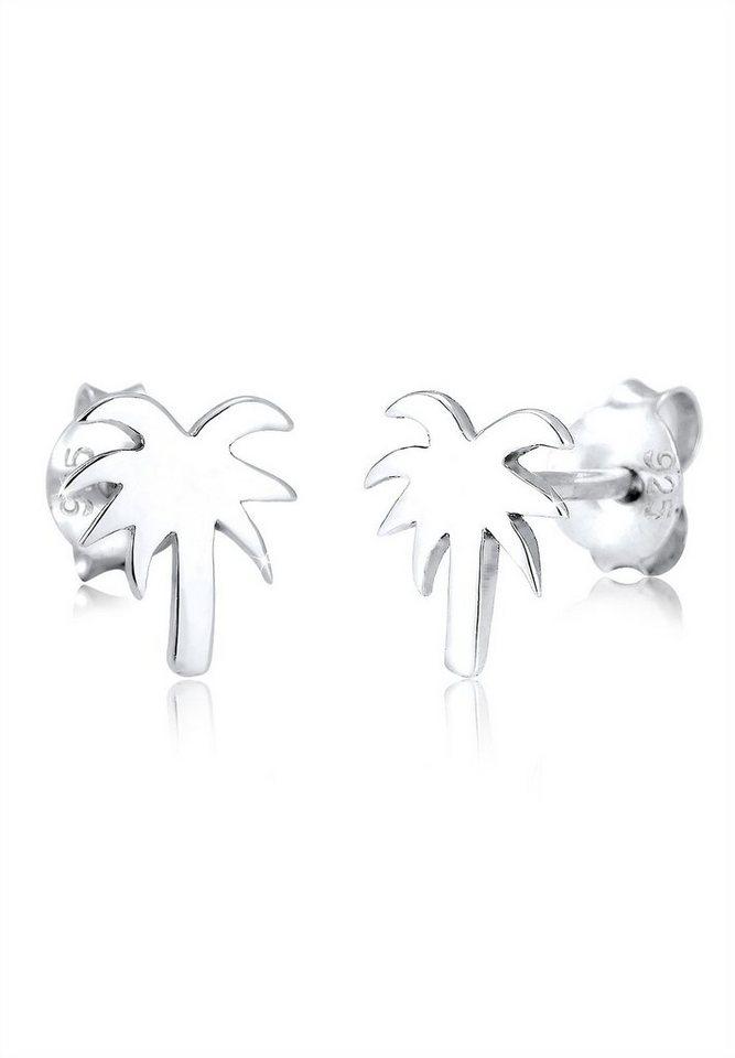 Elli Ohrringe »Palme Trend Strand Urlaub Meer 925 Silber« in Silber