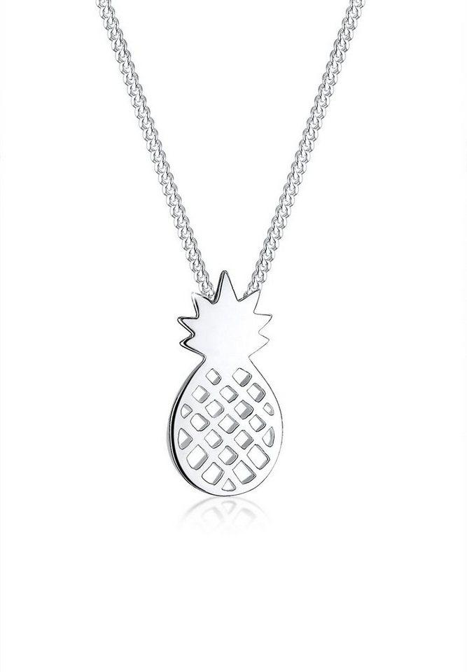 Elli Halskette »Ananas Frucht 925 Sterling Silber« in Silber