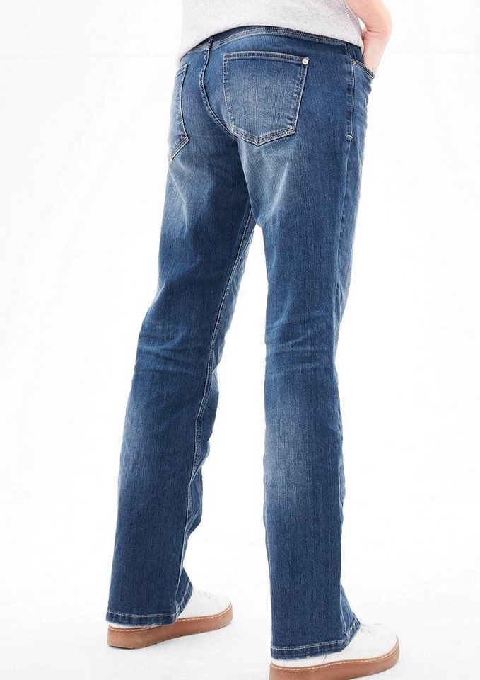 s oliver red label smart bootcut flared stretch jeans. Black Bedroom Furniture Sets. Home Design Ideas
