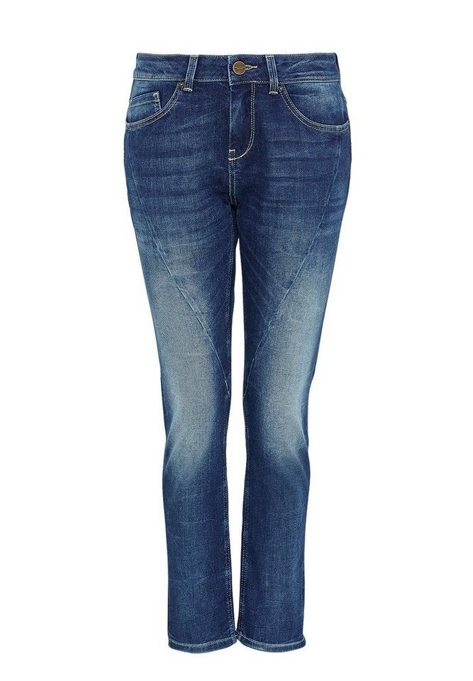 HALLHUBER Boyfriend Jeans im Used-Look in blue denim