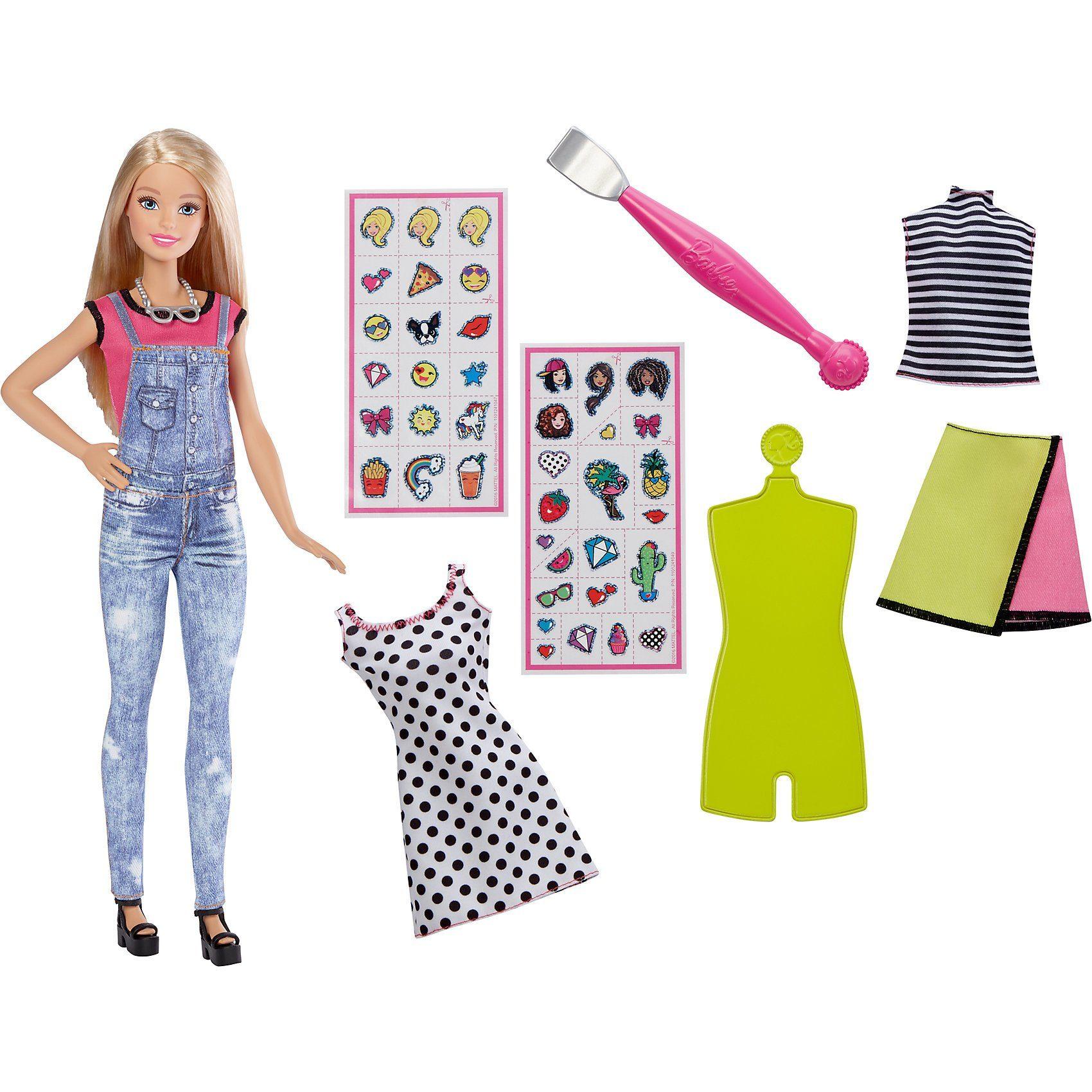 Mattel Barbie DIY Emoji Style Puppe blond