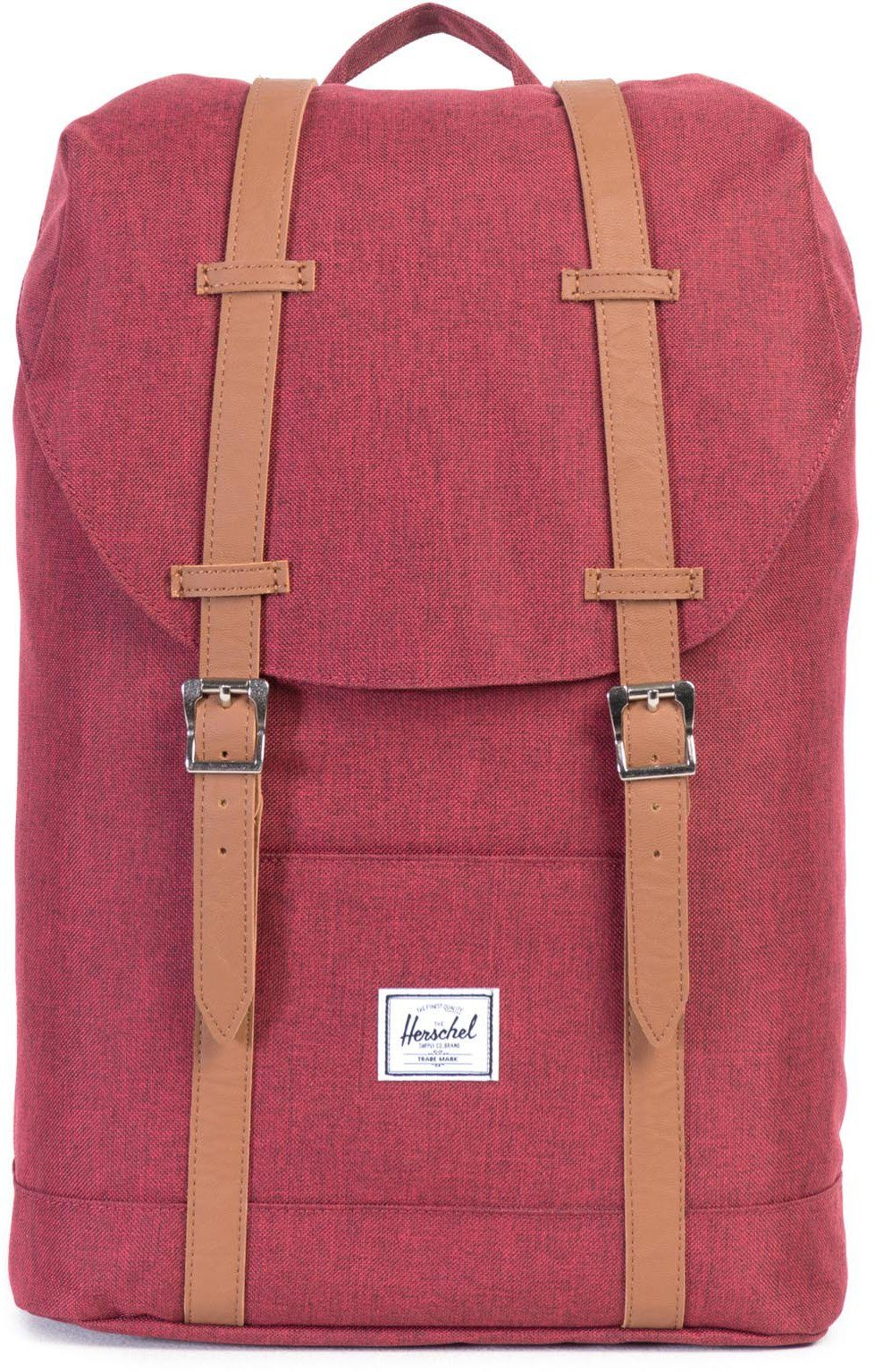Herschel Rucksack mit Laptopfach, »Retreat Backpack, Winetasting Crosshatch, Mid Volume«