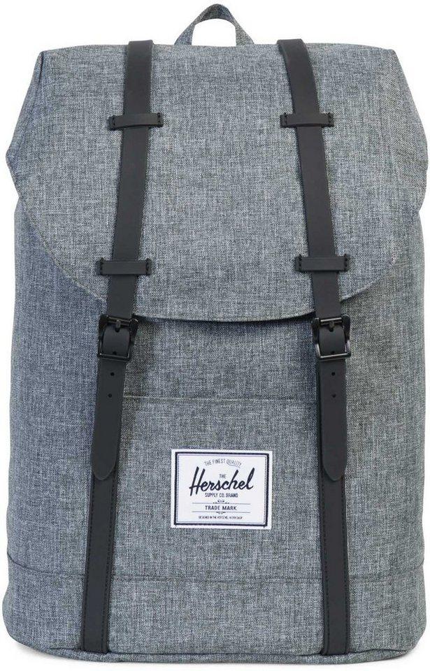 Herschel Rucksack mit Laptopfach, »Retreat Backpack, Raven Crosshatch« - Preisvergleich