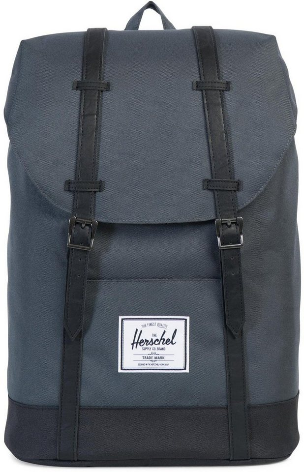 herschel rucksack mit laptopfach retreat backpack dark shadow black online kaufen otto. Black Bedroom Furniture Sets. Home Design Ideas