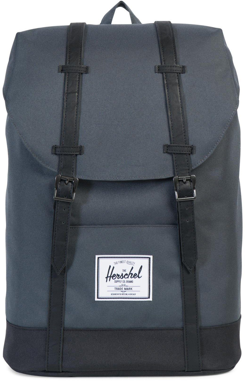 Herschel Rucksack mit Laptopfach, »Retreat Backpack, Dark Shadow/Black«