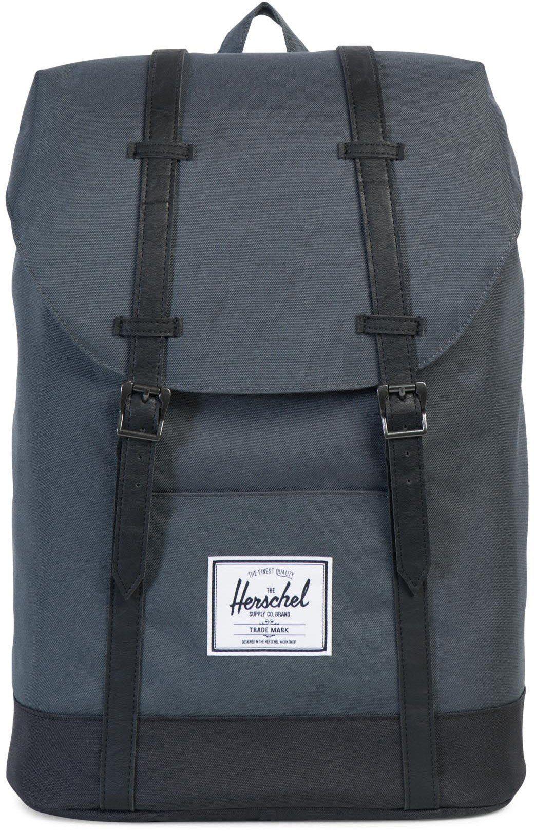 Herschel Rucksack mit Laptopfach, »Retreat Backpack, Dark Shadow/Black«