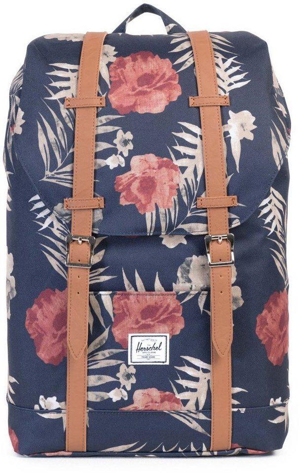 herschel rucksack mit laptopfach retreat backpack peacoat floria mid volume online kaufen. Black Bedroom Furniture Sets. Home Design Ideas