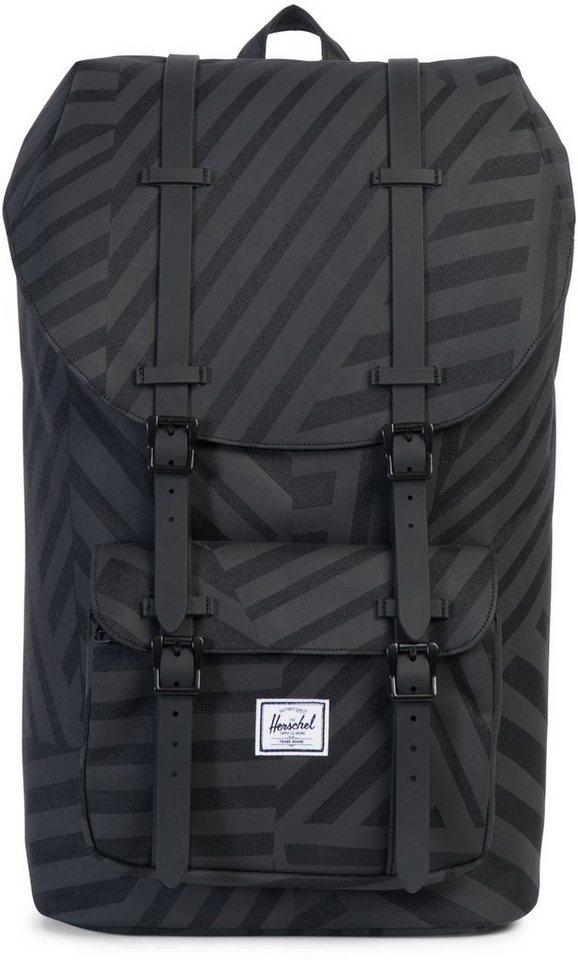 herschel rucksack mit laptopfach little america backpack dazzle camo online kaufen otto. Black Bedroom Furniture Sets. Home Design Ideas