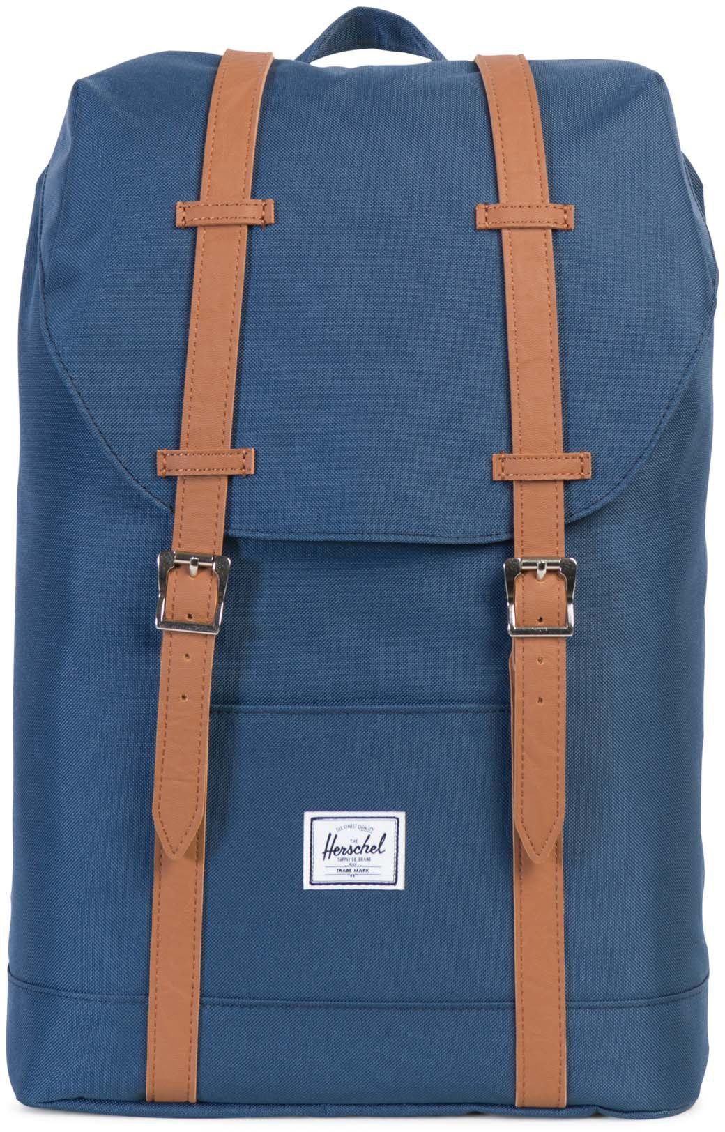 Herschel Rucksack mit Laptopfach, »Retreat Backpack, Navy, Mid Volume«