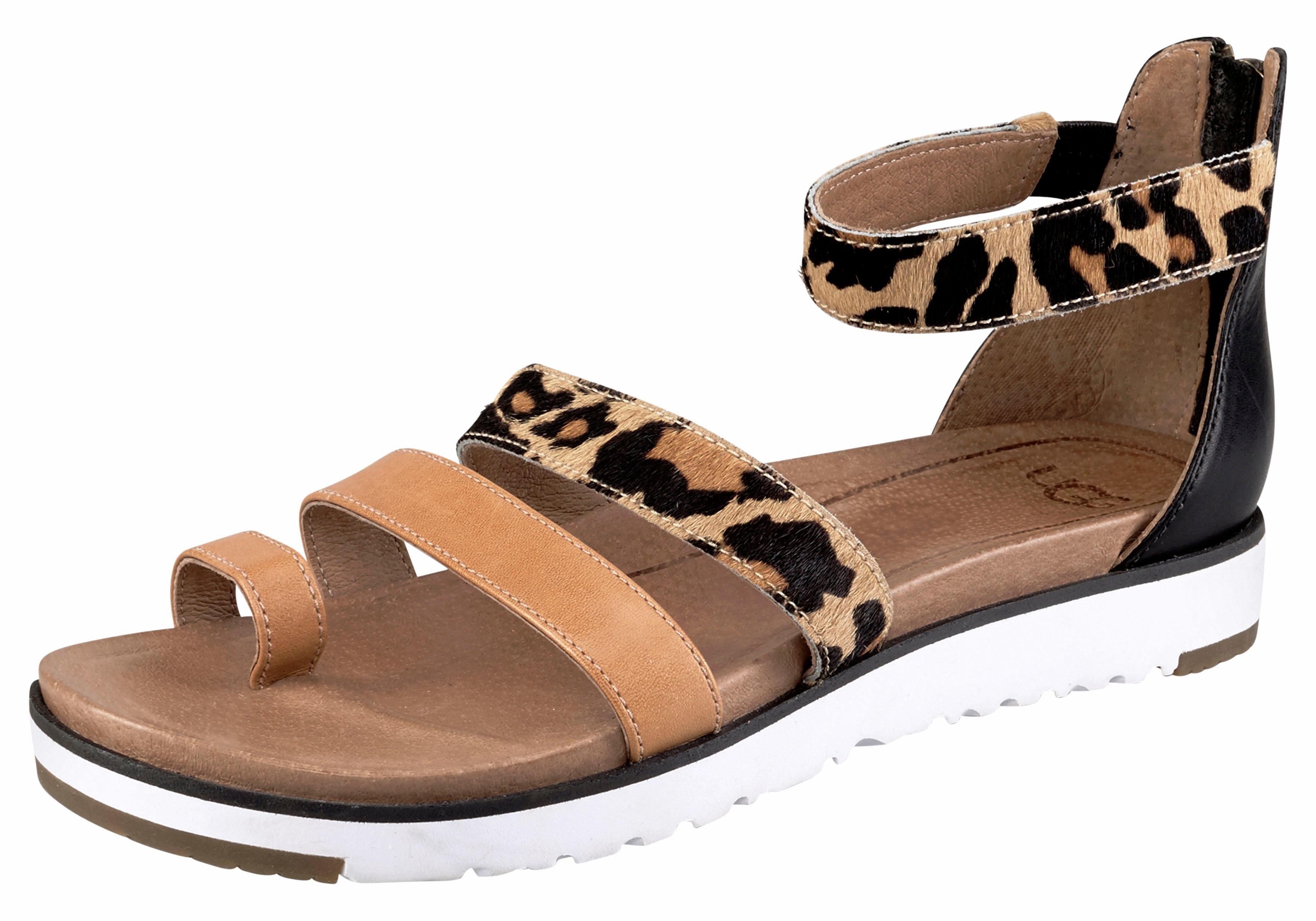 UGG »Lecia« Sandale, mit bunten Quasten im Hippie-Look, braun, chestnut