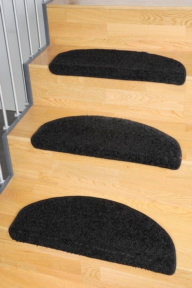 Stufenmatte, Living Line, »Shaggy Pulpo«, gewebt in schwarz