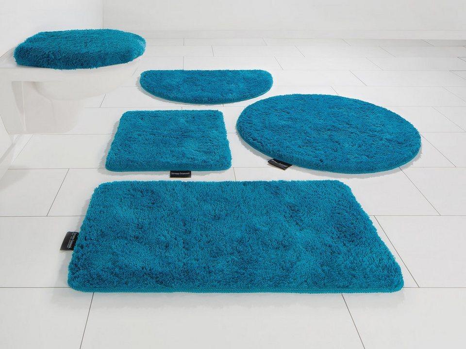 Badematte, Bruno Banani, »Lana«, Höhe 25 mm, rutschhemmender Rücken in mosaic blue