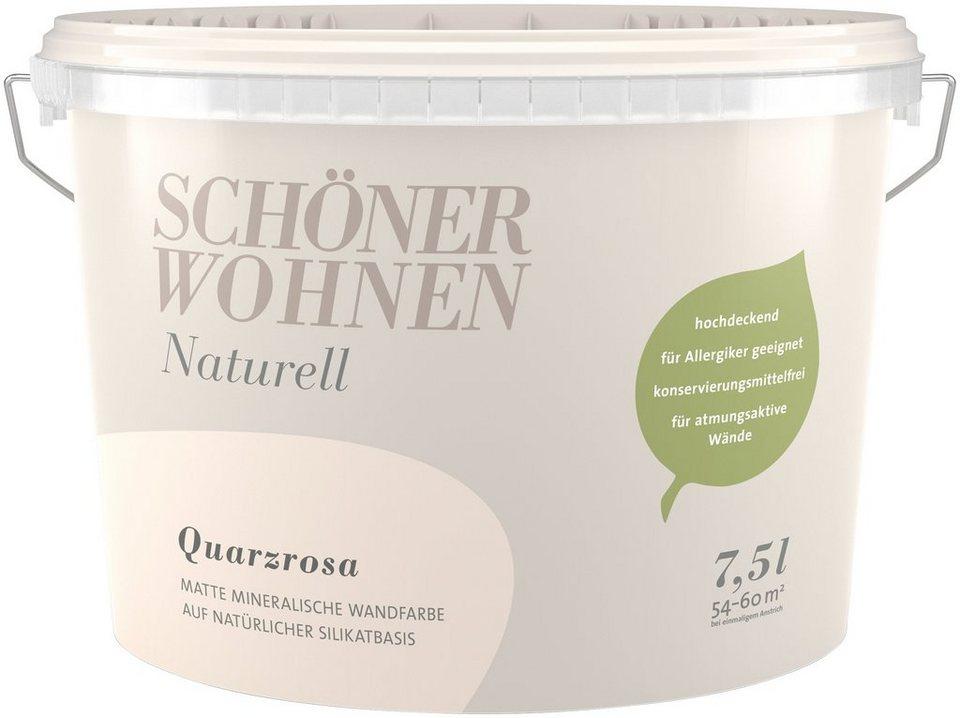 wandfarbe schoner wohnen schaner farbe wand und deckenfarbe anaturell quarzrosaa 25 l online kaufen