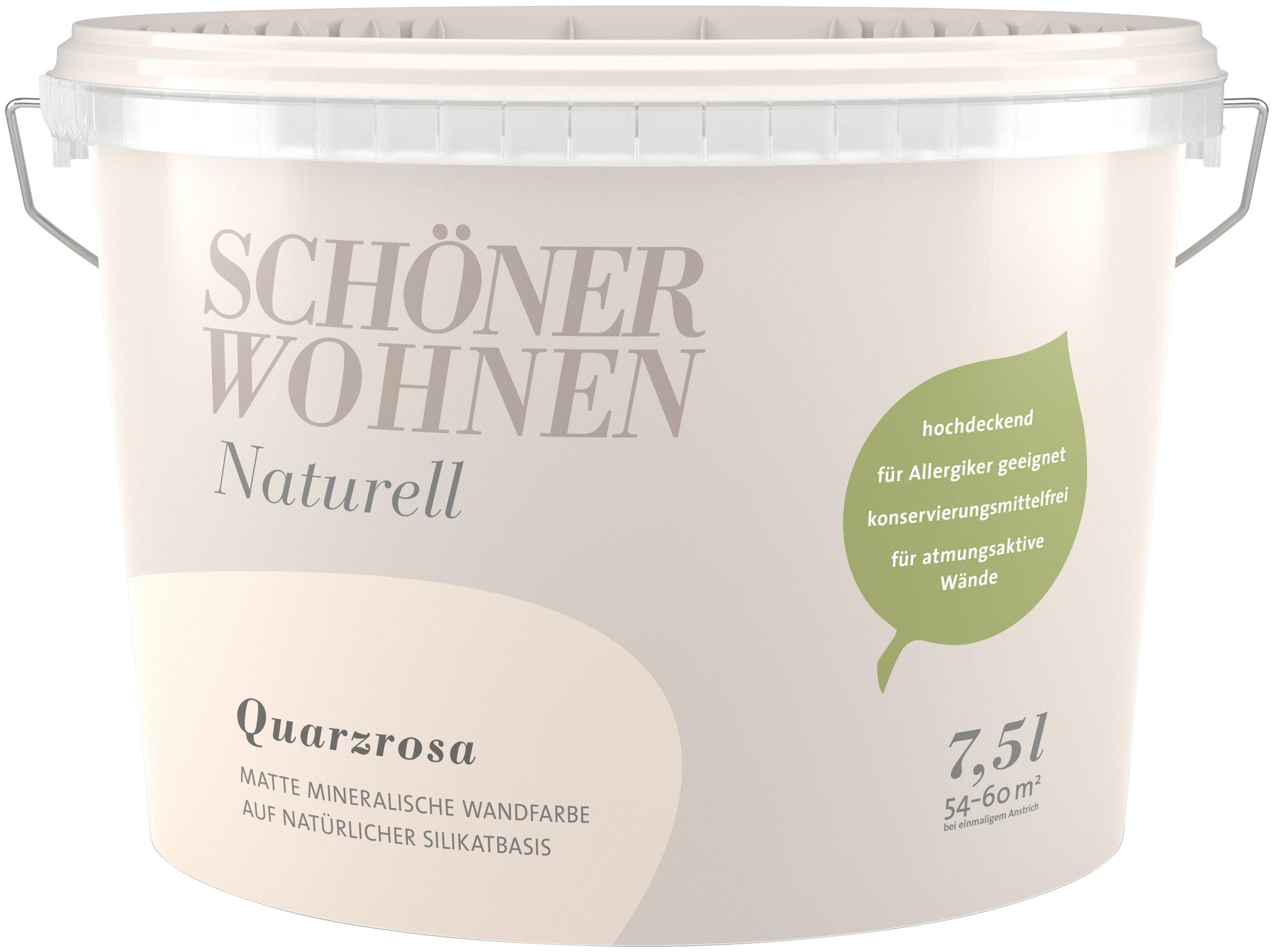 SCHÖNER WOHNEN FARBE Wand- und Deckenfarbe »Naturell Quarzrosa«, 2,5 l