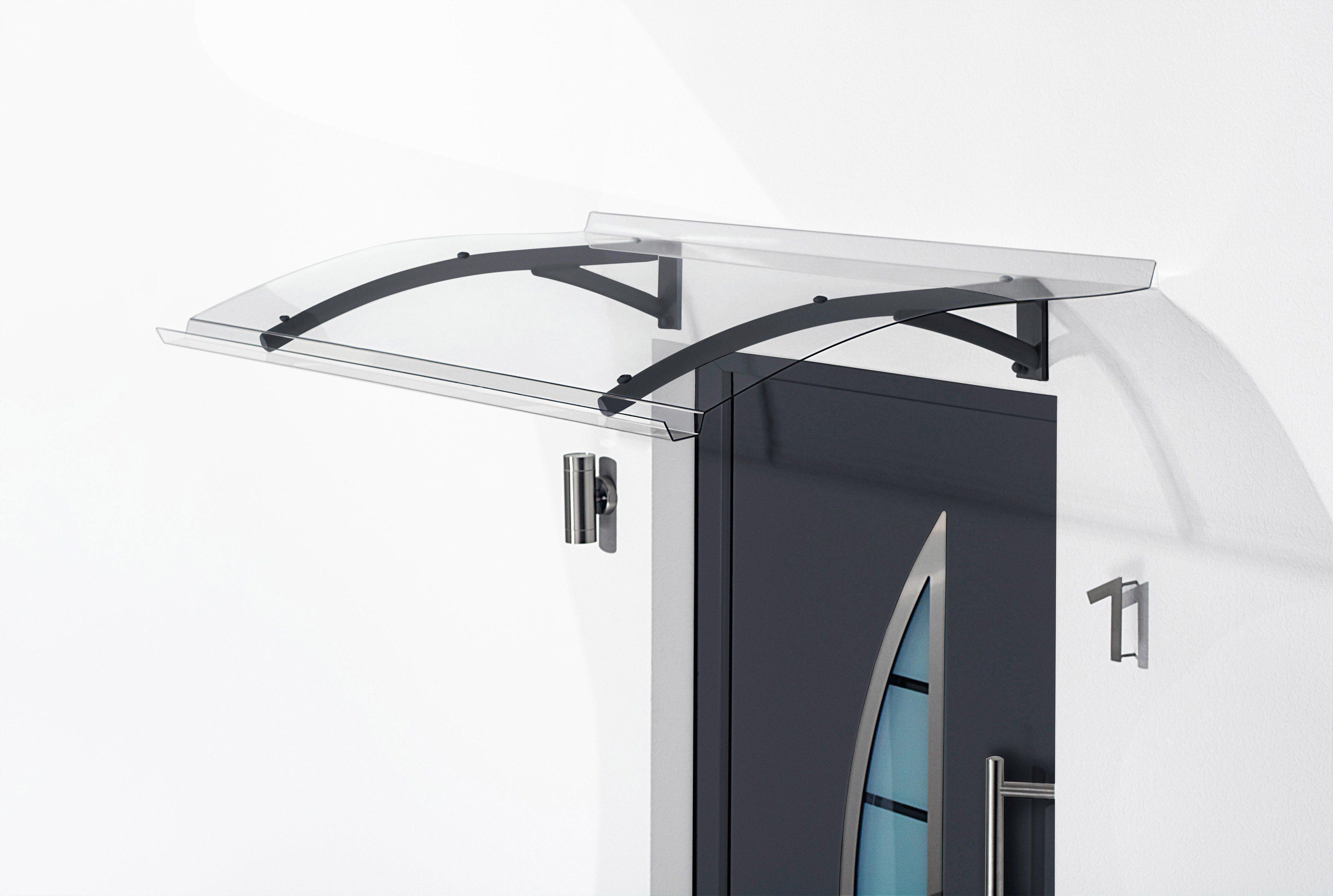 Gutta Pultvordach »TYP PT SECCO«, BxT: 150x90 cm, anthrazit-transparent