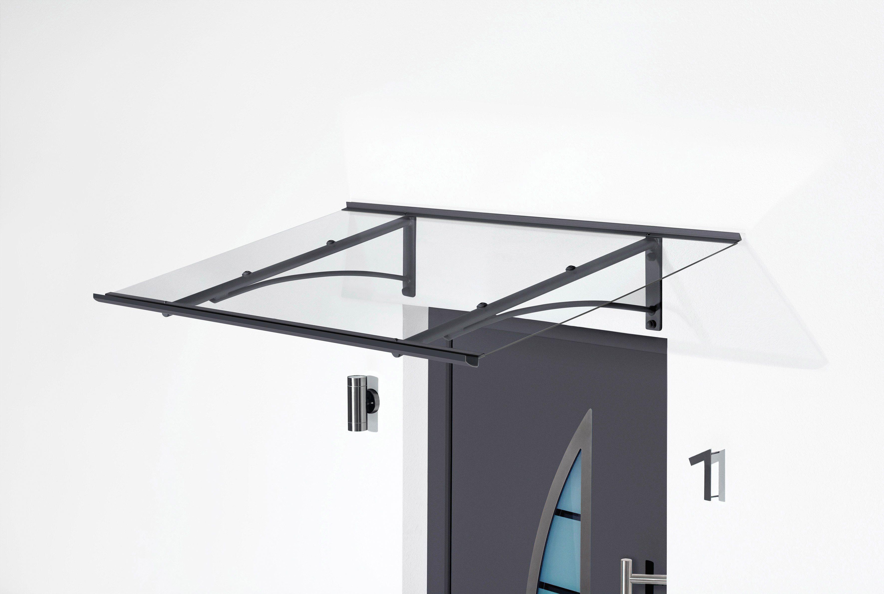 Gutta Pultvordach »TYP PT/GR«, BxT: 160x90 cm, anthrazit-transparent