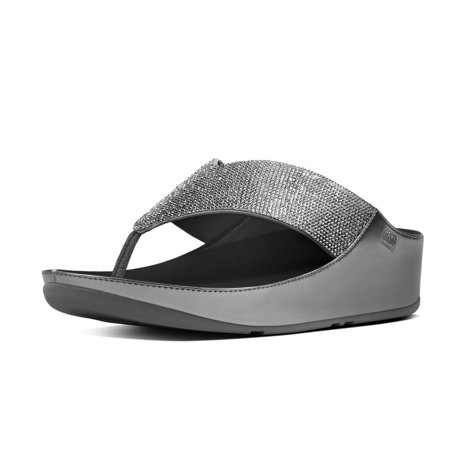 FitFlop »FitFlop CRYSTALL Pewter« Pantolette in grau