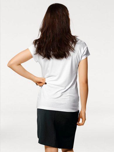 RICK CARDONA by Heine Paillettenshirt mit überschnittenen Schultern