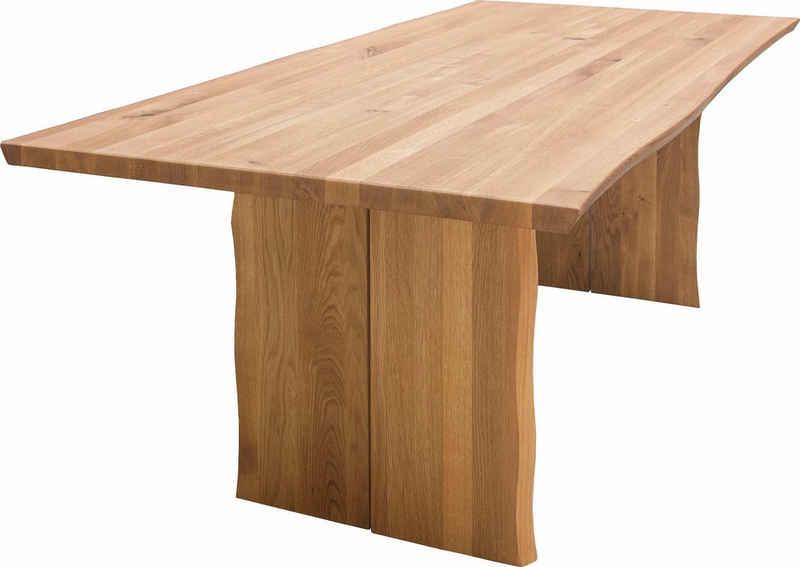 SCHÖSSWENDER Esstisch »Oviedo 2«, FSC®-zertifiziertes Massivholz mit Baumkante