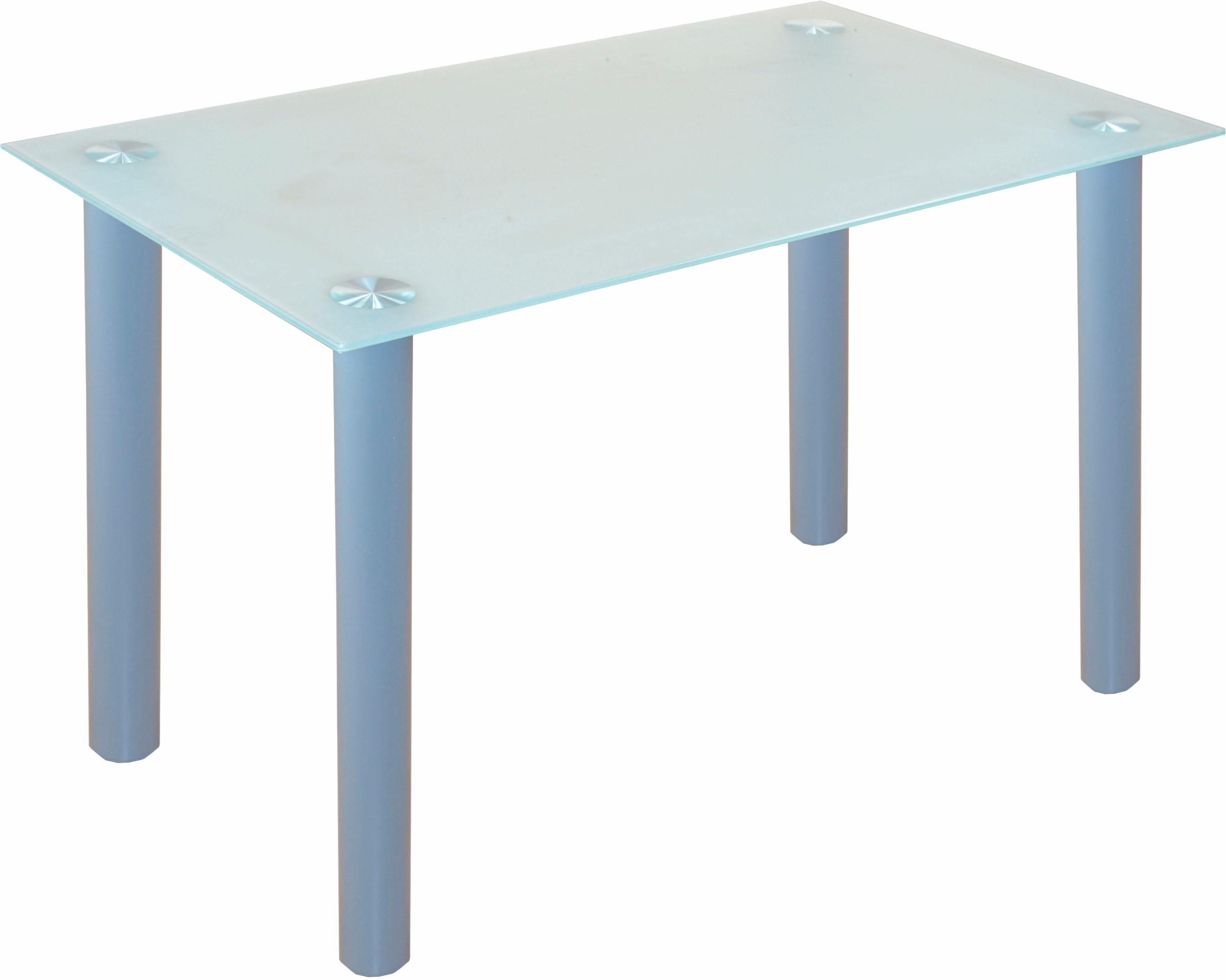 Glastisch, Breite 120 cm