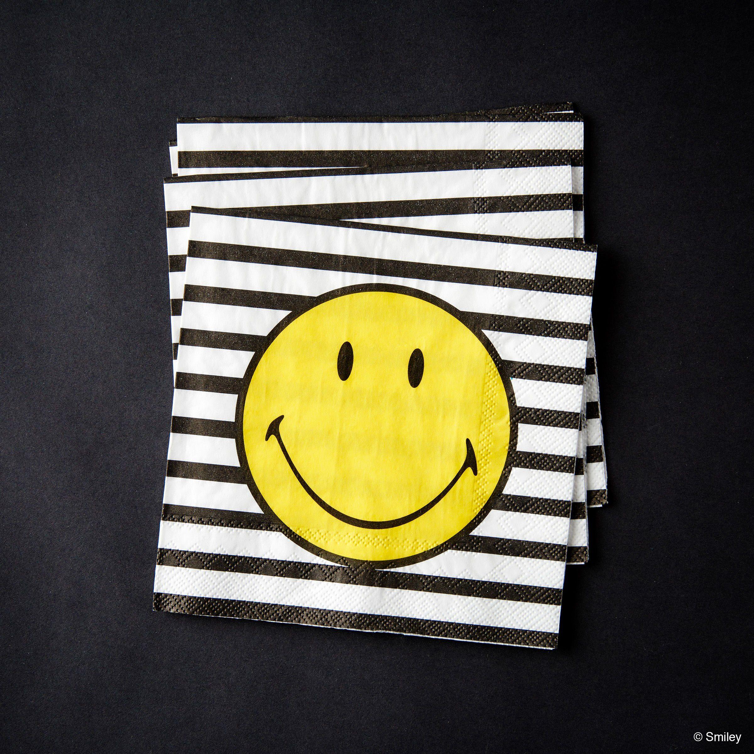 BUTLERS SMILEY »Papierserviette Smiley Streifen«