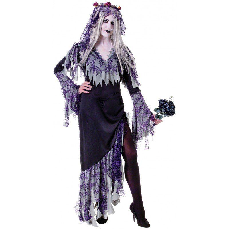 Zombie Spinnen Braut Kostüm - S/M