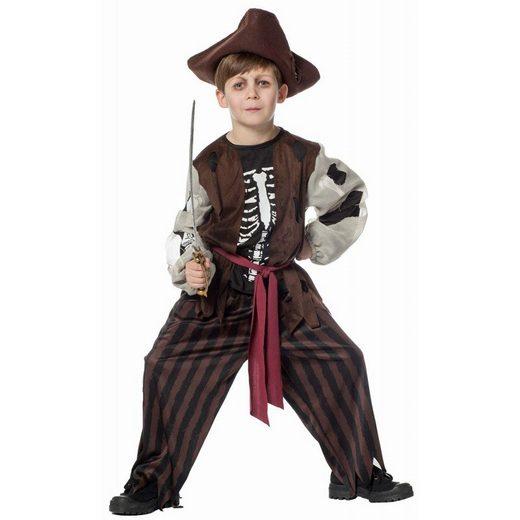 Toten Skelett Pirat Kinderkostüm