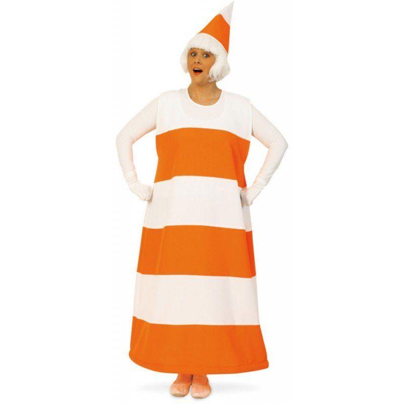 Lustiges Verkehrskegel Kostüm für Erwachsene - XL