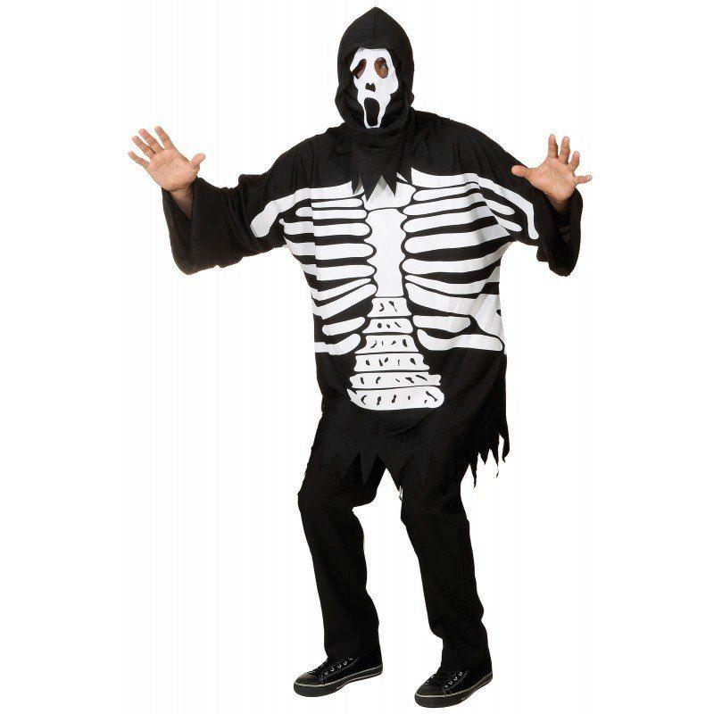 Oberteil Skelett mit Scream Maske - Einheitsgröße