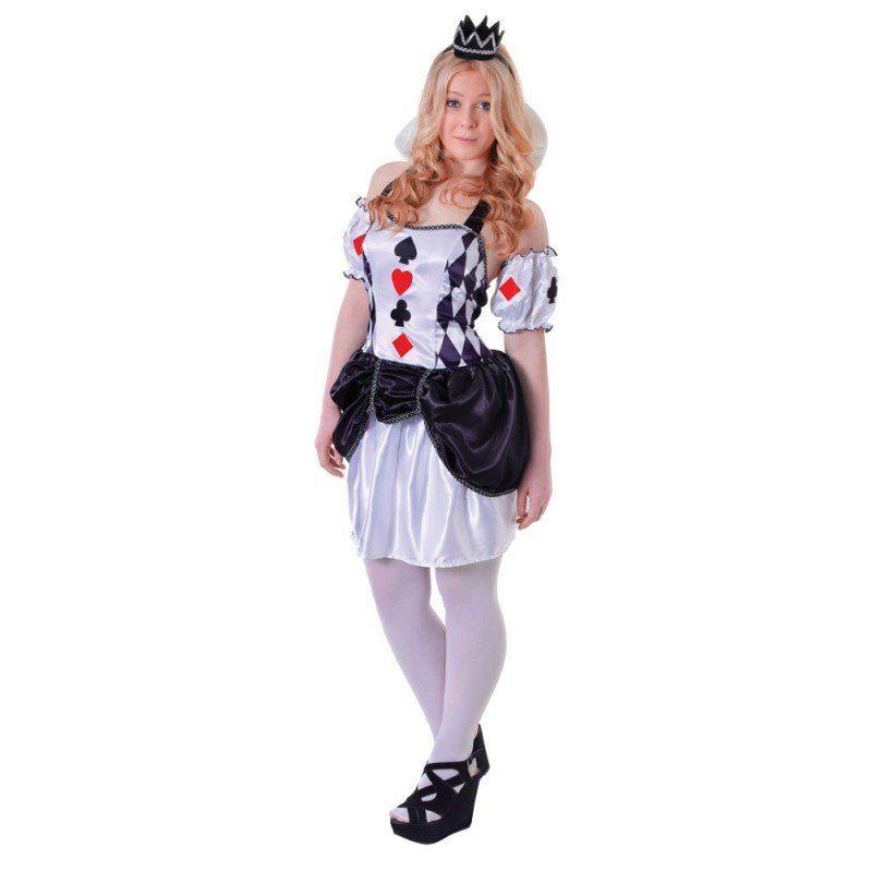 Harlekin Prinzessin Teenager Kostüm - XS