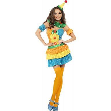Süßes Blumen Clown Kostüm für Damen