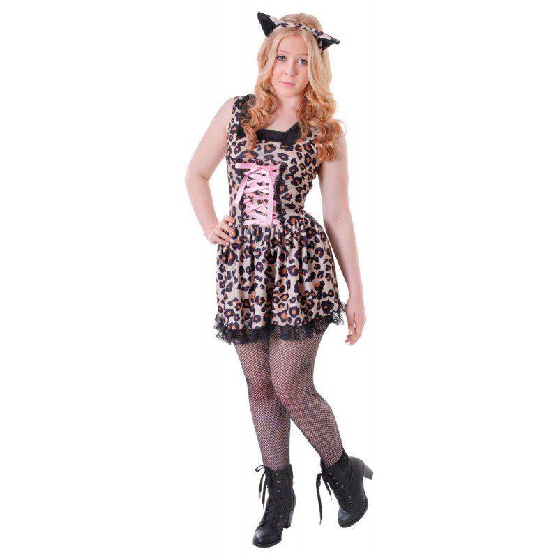 Leoparden Mädchen Kostüm für Teenager - XS