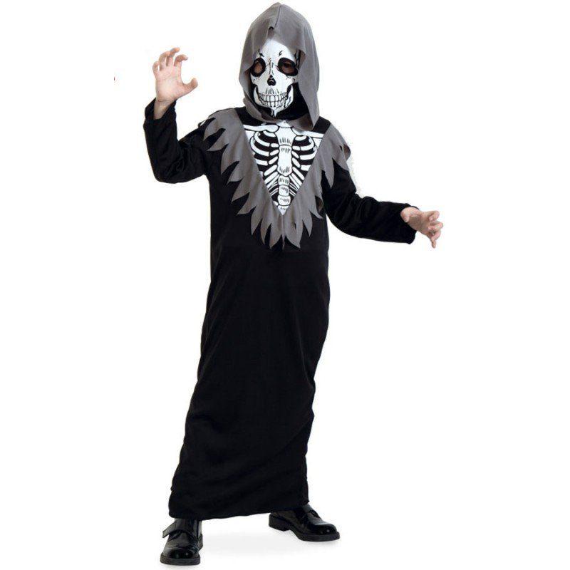 Grusel Skelett Kostüm für Kinder - 140