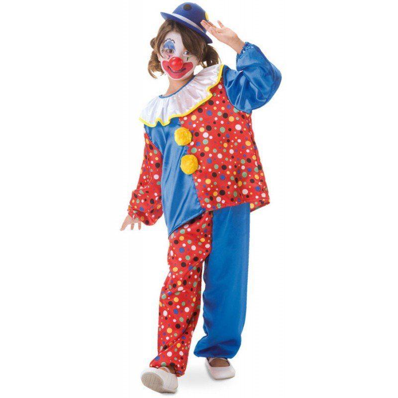 Süßes Pünktchen Clowns Kostüm für Kinder - 104