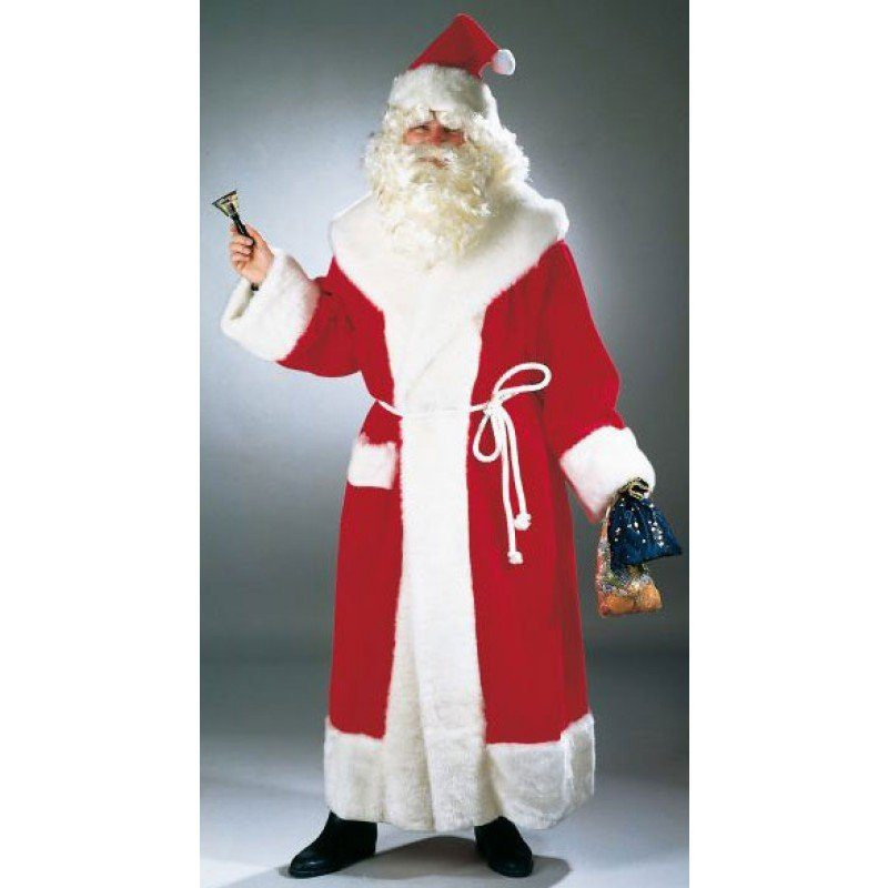 Deluxe Weihnachtsmann Plüsc - Einheitsgröße (M-XL)