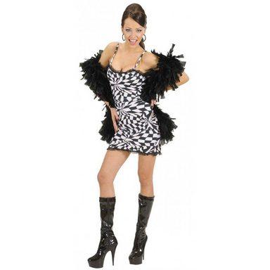 70er Jahre Disco Kleid schwarz-weiß
