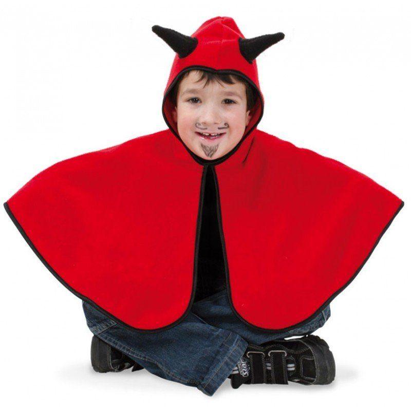 Kleines Teufels Cape für Kinder (Größe 98)