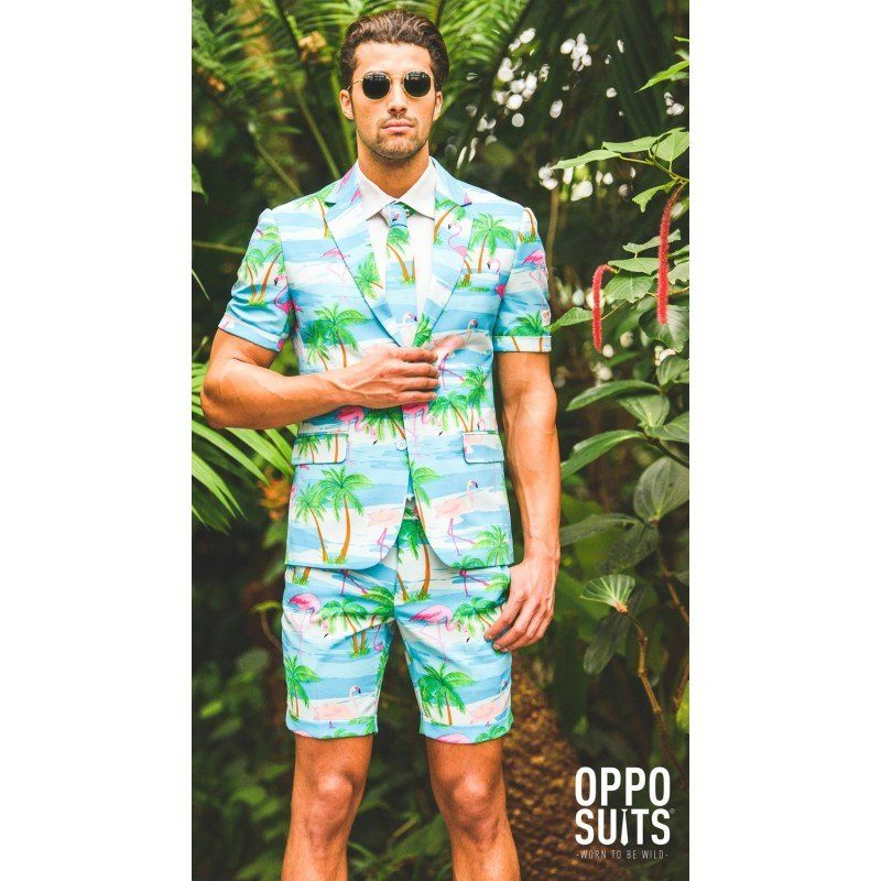 OppoSuits Summer Flaminguy Anzug