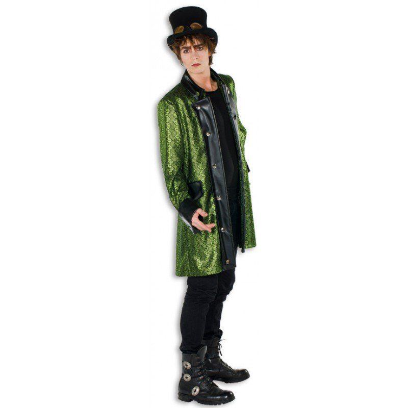 Victorian Gothic Mantel grün für Herren
